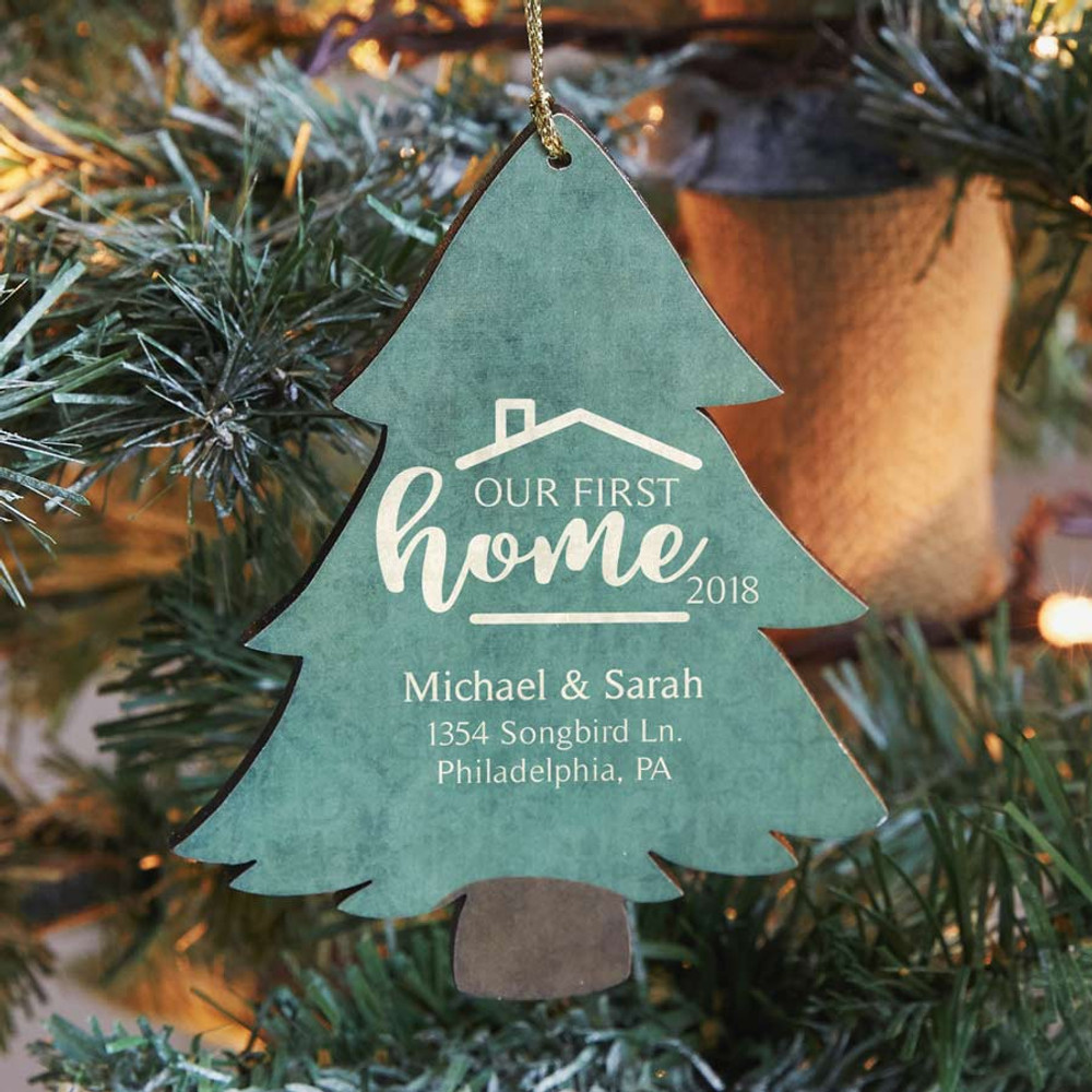 Our First Home Christmas Ornament.Personalized First Home Ornament Tree