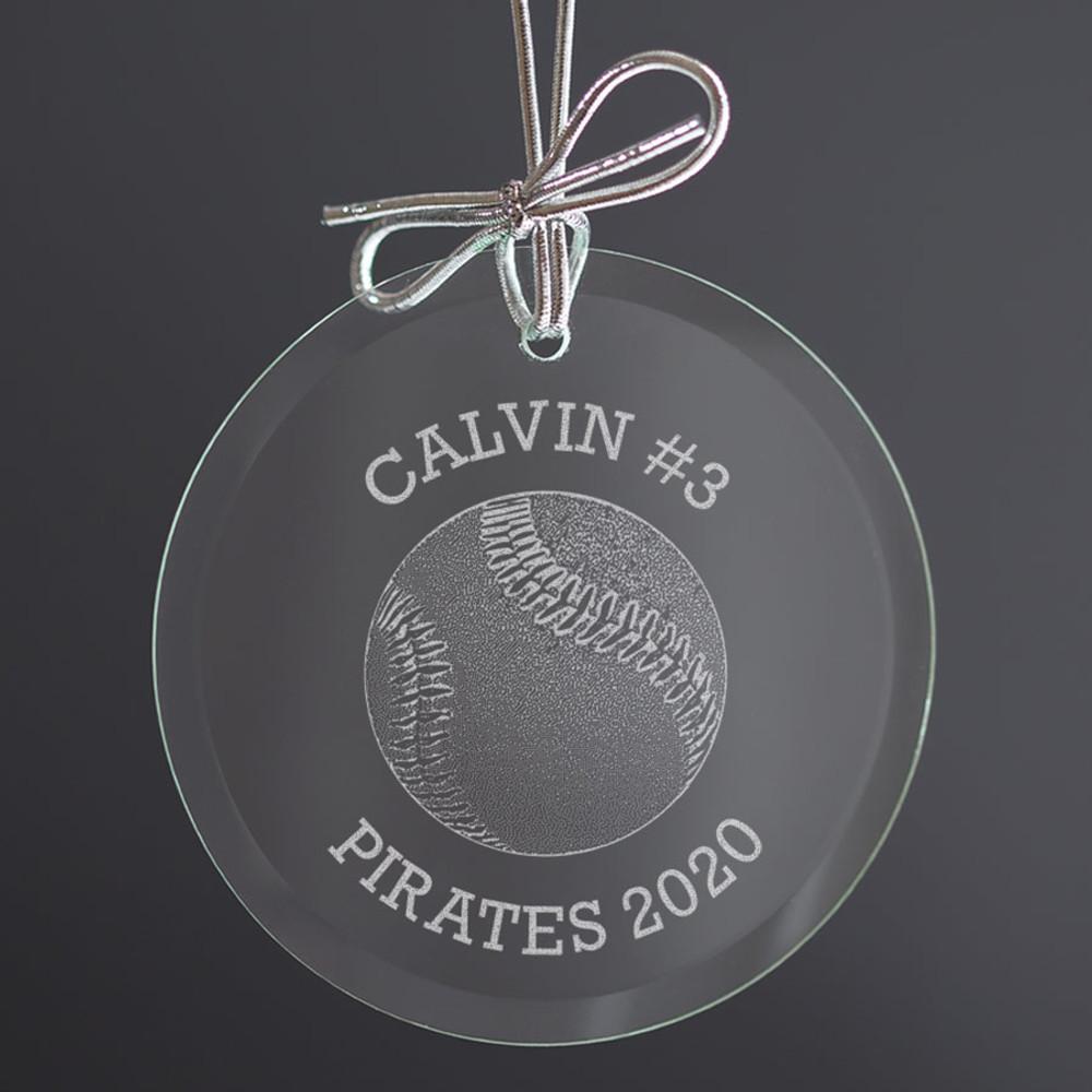 christmas ornament for baseball players