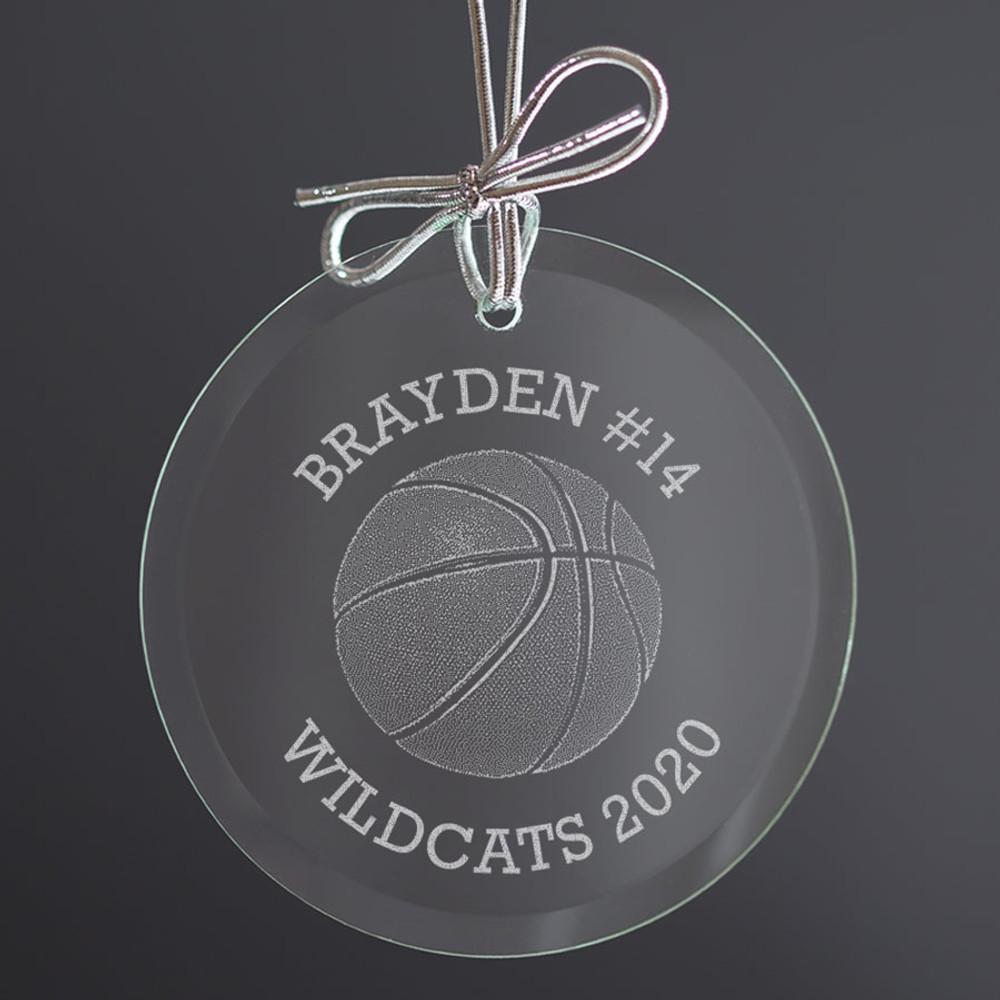 basketball player christmas ornament