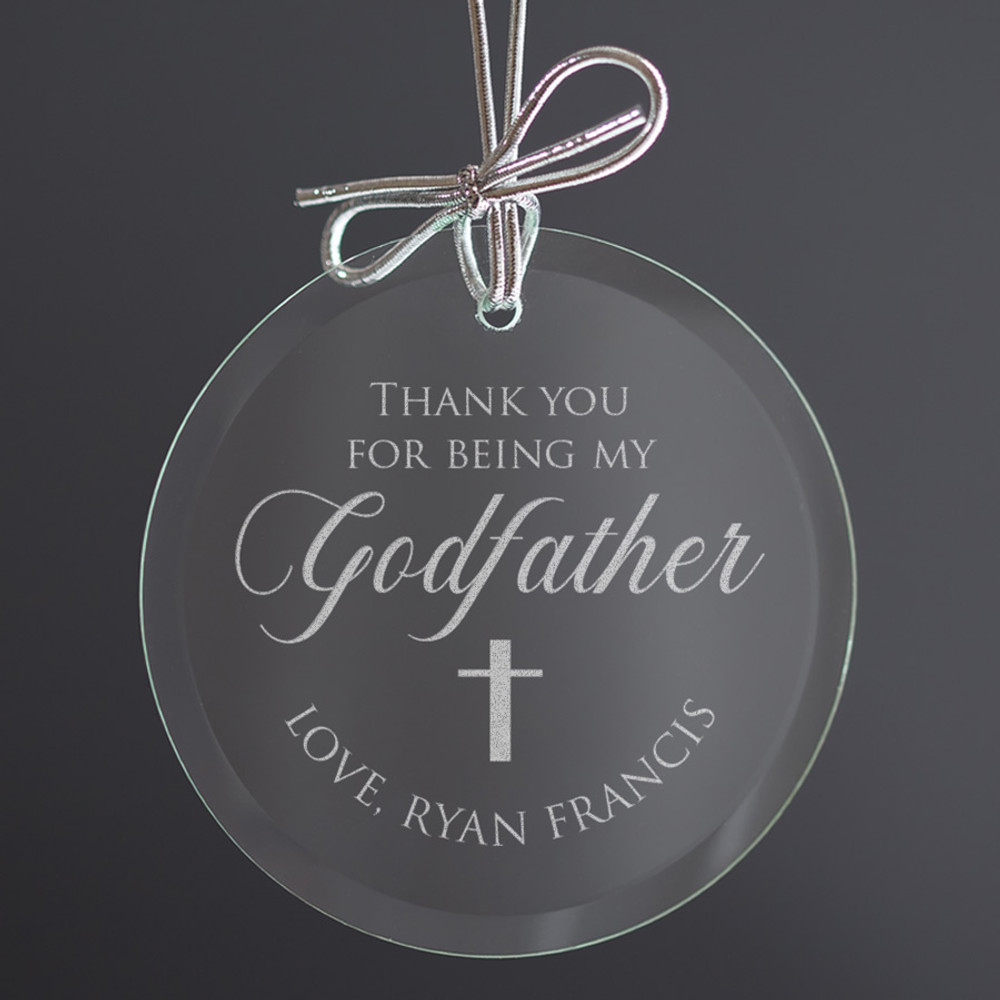 godfather ornament personalized Christmas decoration