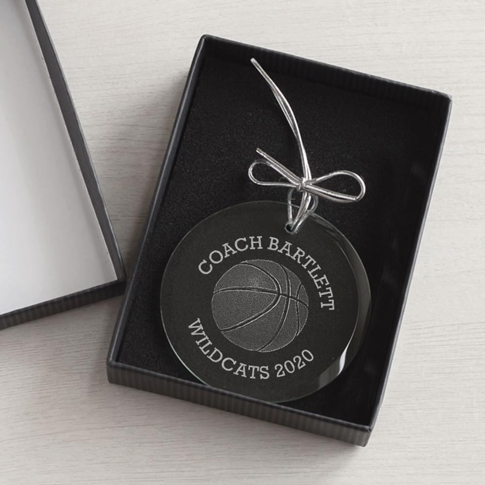 Personalized Basketball Coach Ornament Gift Box