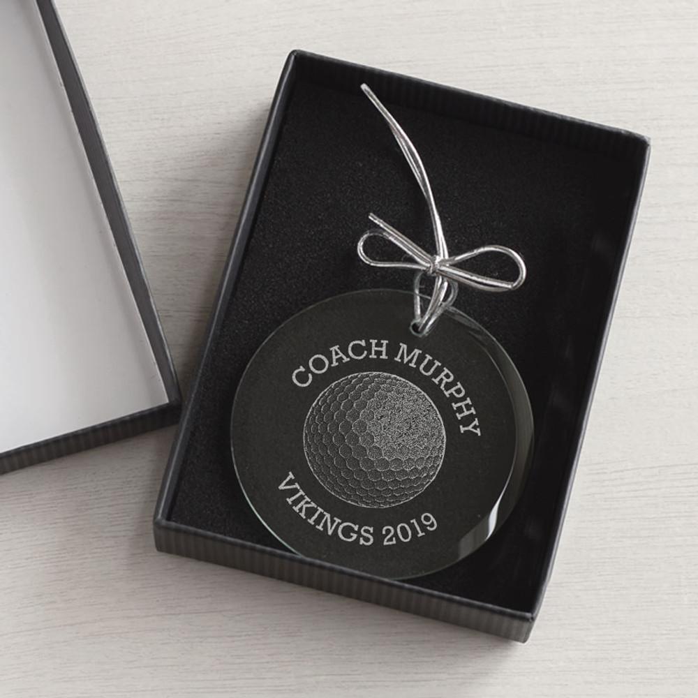 Personalized Golf Coach Ornament gift box