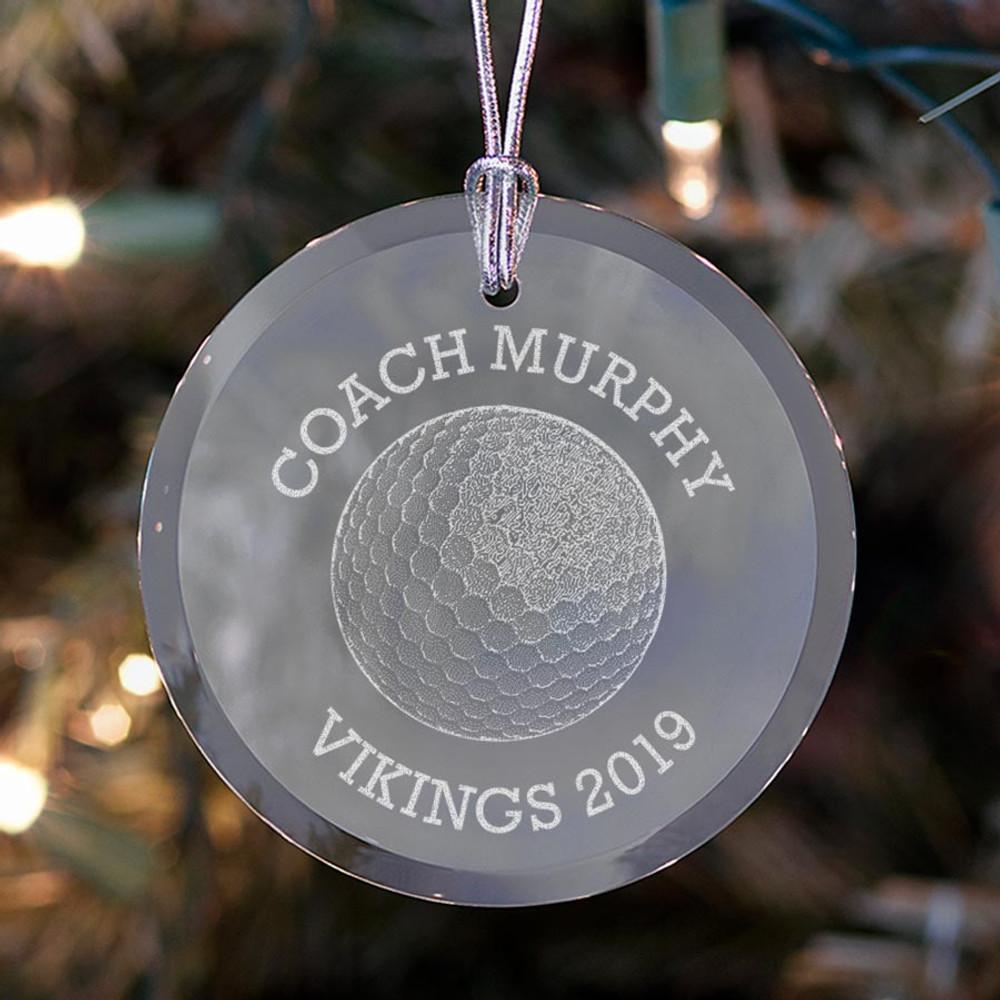 Personalized Golf Coach Ornament