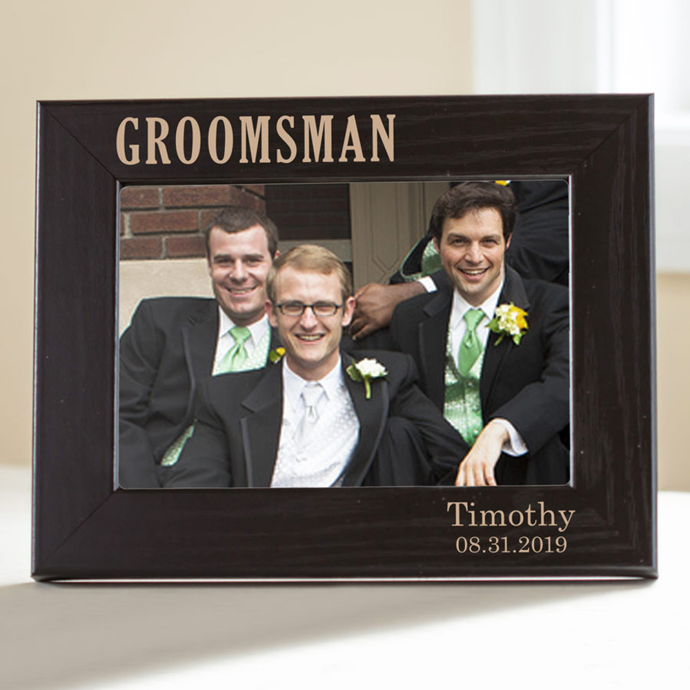 Personalized Groomsman Picture Frame(black)