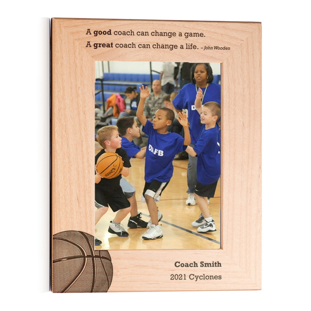 Personalized Basketball Coach Picture Frame Portrait