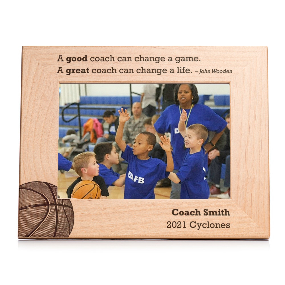 Personalized Basketball Coach Picture Frame Landscape