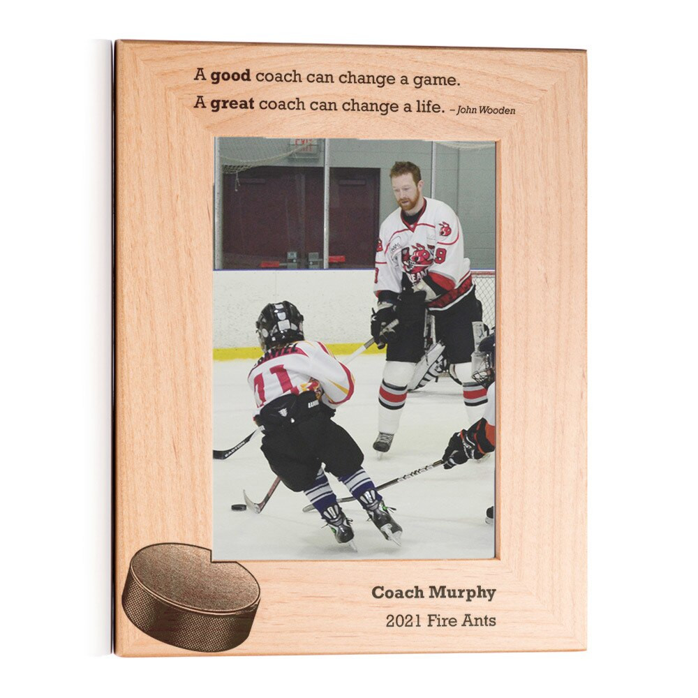 Personalized Hockey Coach Picture Frame Portrait