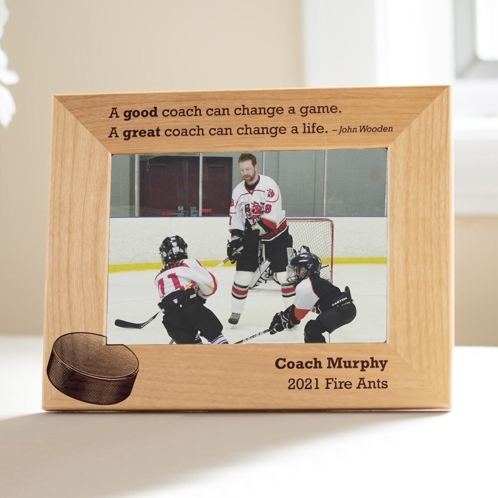 Personalized Hockey Coach Picture Frame