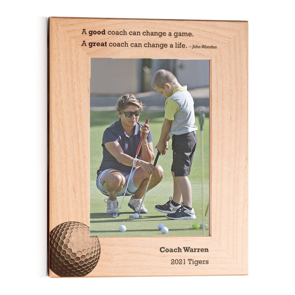 Personalized Golf Coach Picture Frame Portrait