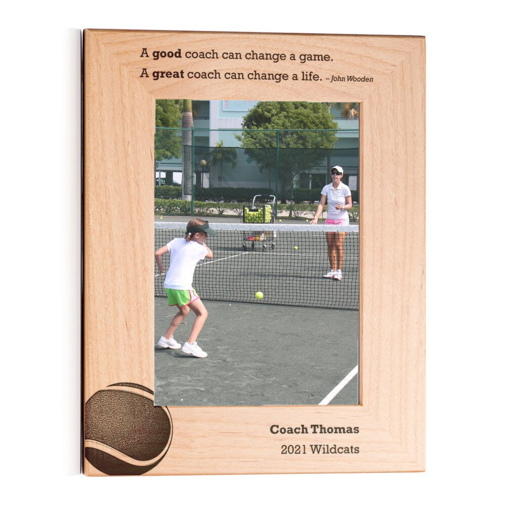 Personalized Tennis Coach Picture Frame Portrait