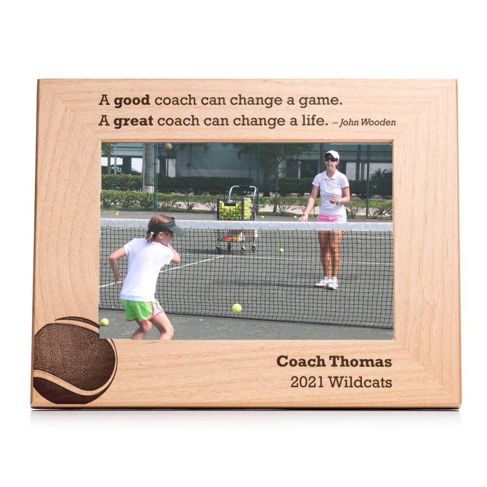 Personalized Tennis Coach Picture Frame Landscape