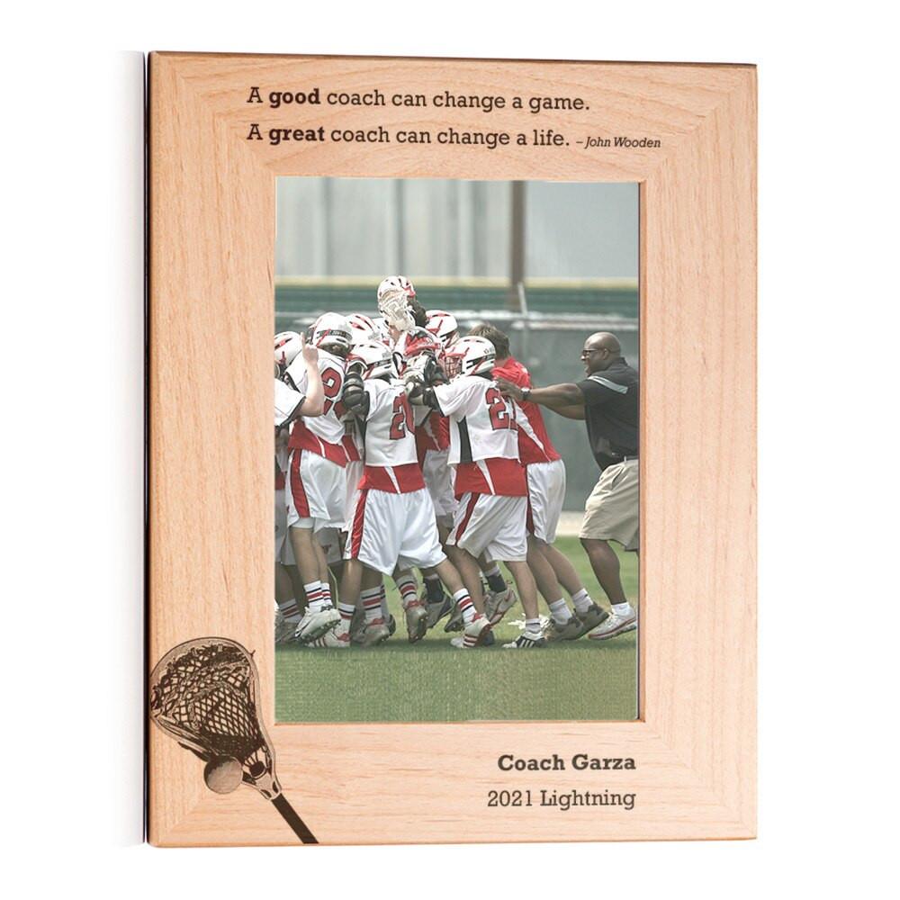 Personalized Lacrosse Coach Picture Frame Portrait