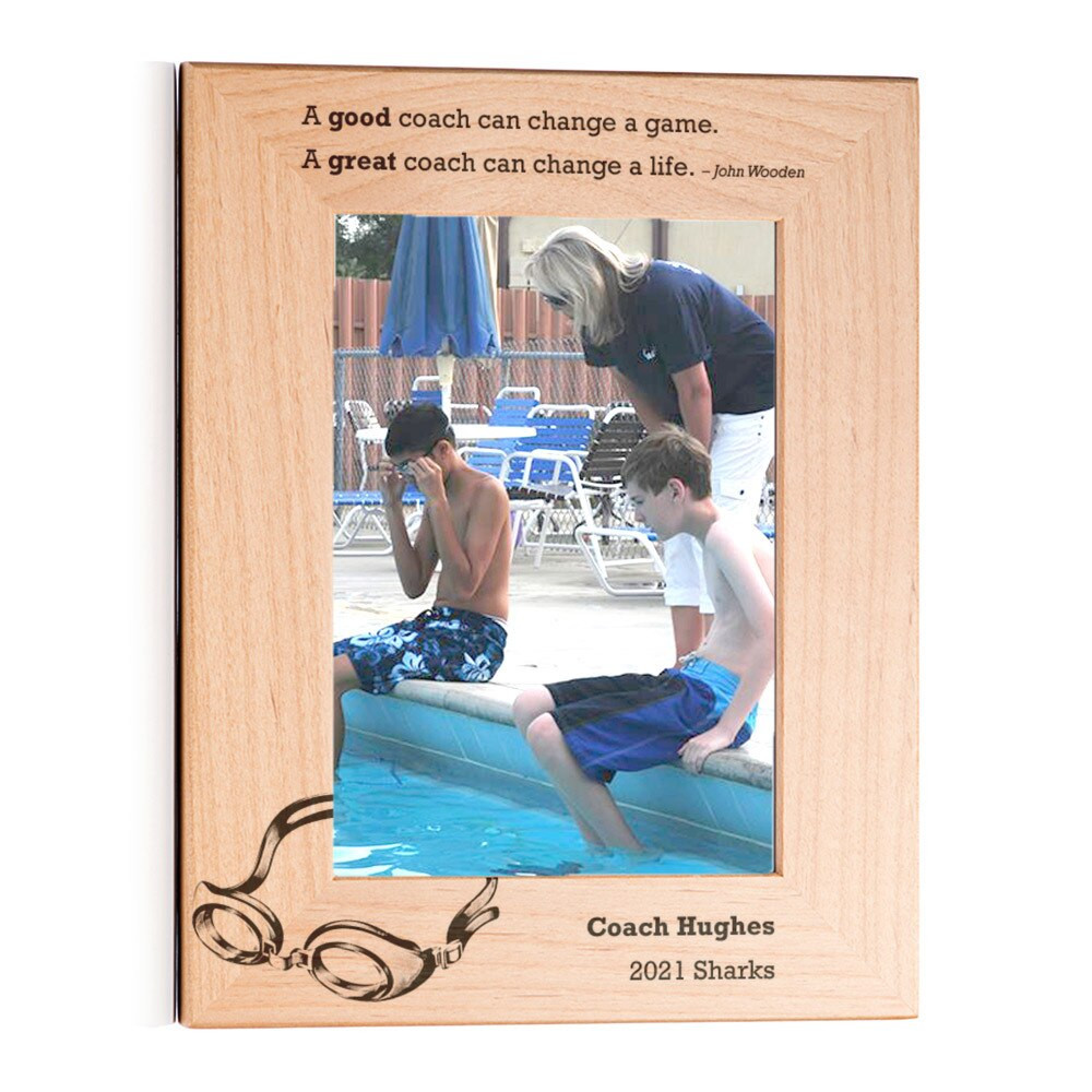 Personalized Swimming Coach Picture Frame Portrait