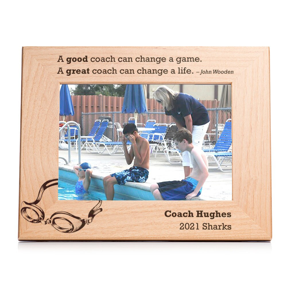 Personalized Swimming Coach Picture Frame Landscape