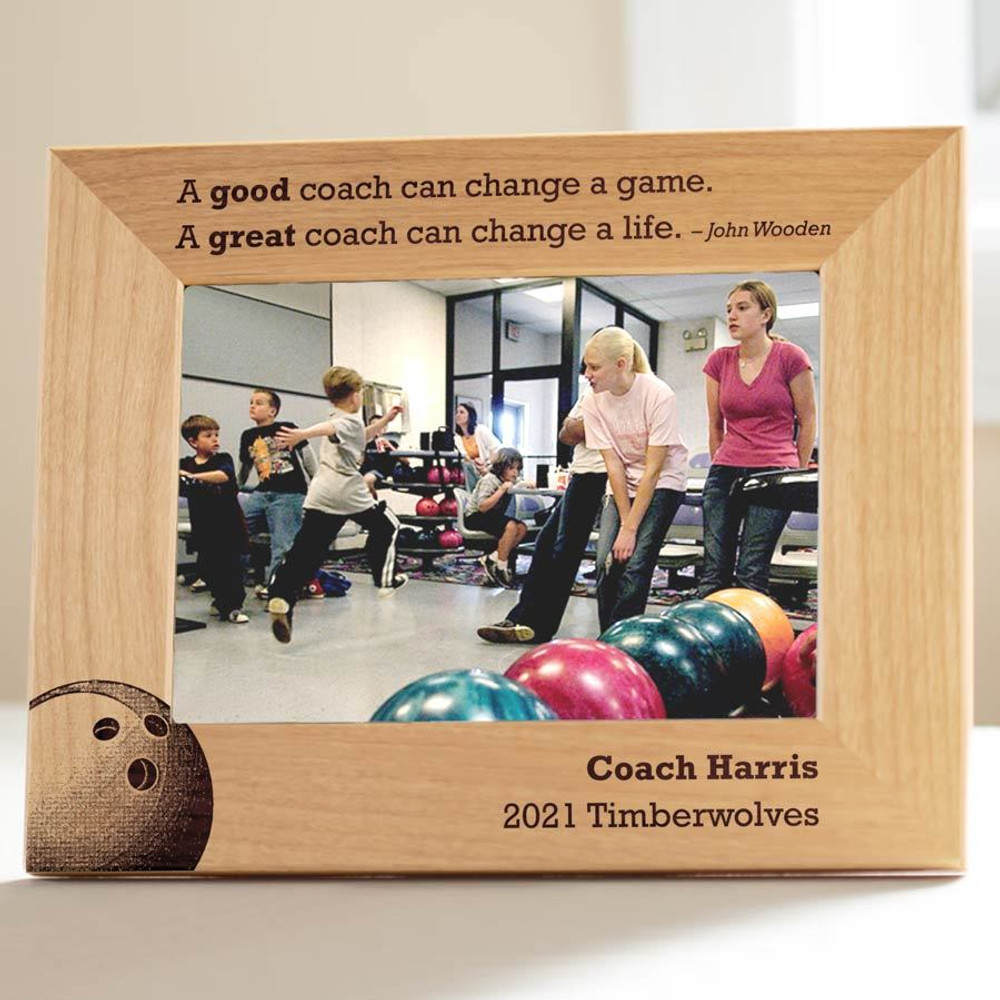 Personalized Bowling Coach Picture Frame