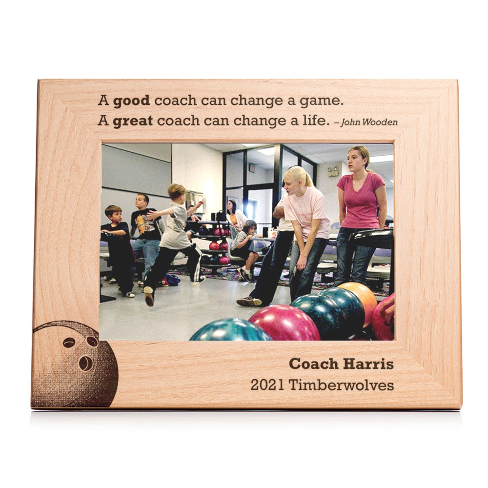 Personalized Bowling Coach Picture Frame Landscape