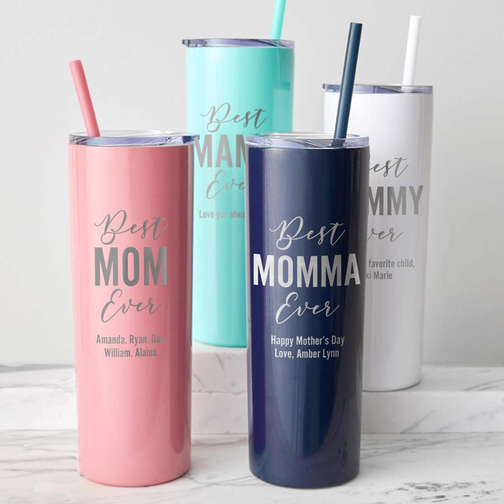 Personalized Best Mom Tumbler for Mother's Day