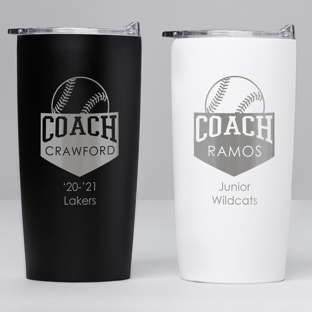 Personalized Baseball Coach Stainless Steel Tumbler