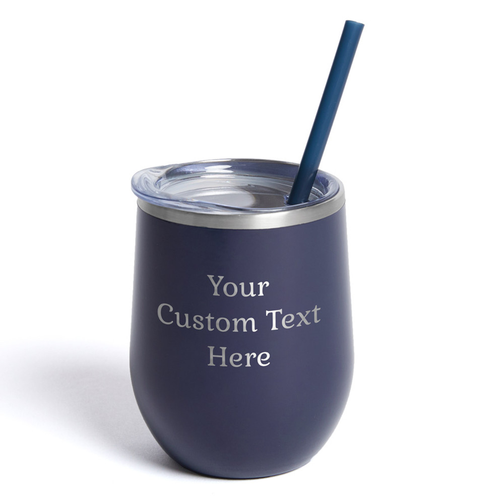 Create Your Own Personalized Navy Wine Tumbler