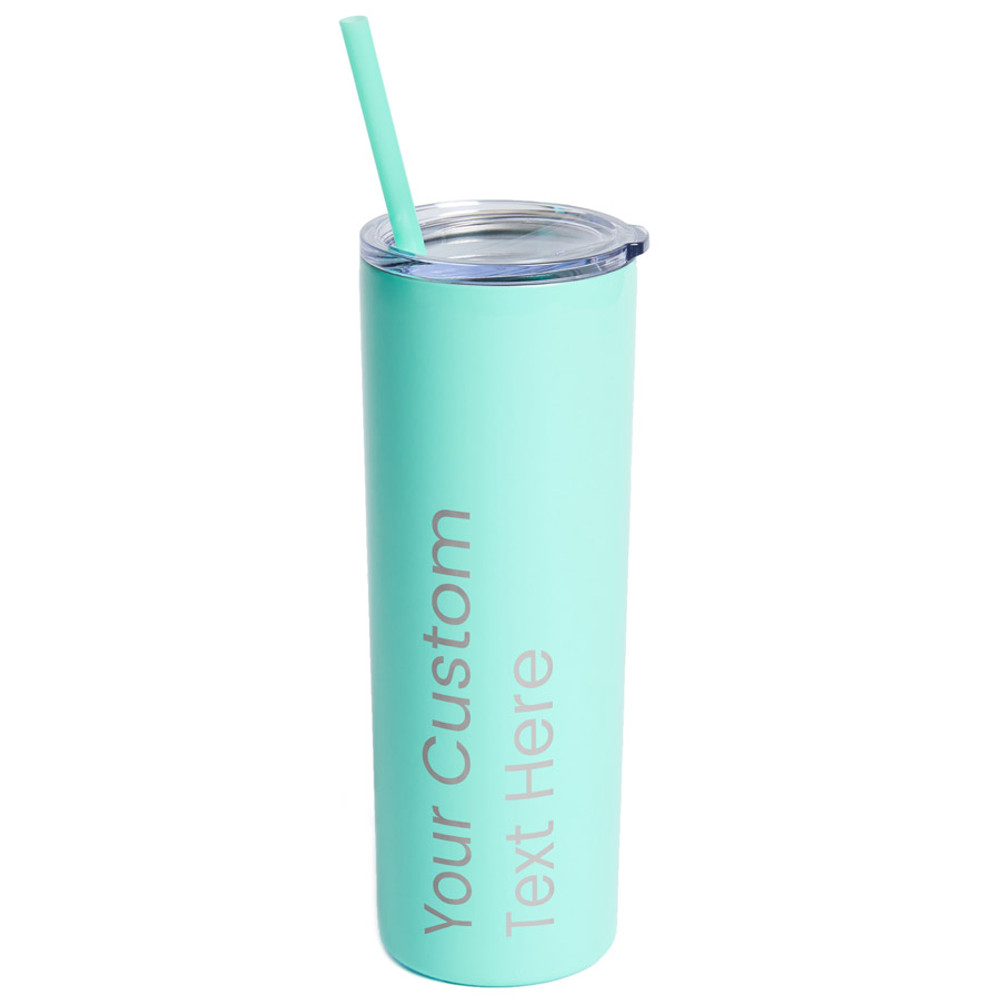 Create Your Own Personalized Skinny Teal Tumbler