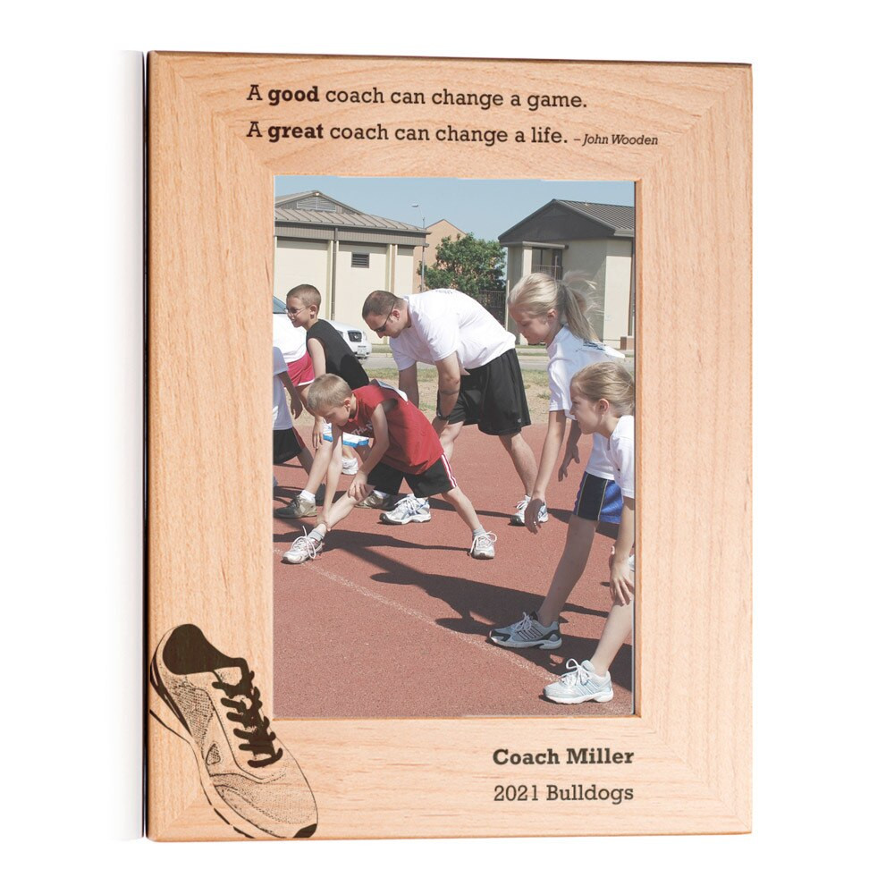 Personalized Track/Cross Country Coach Picture Frame Portrait