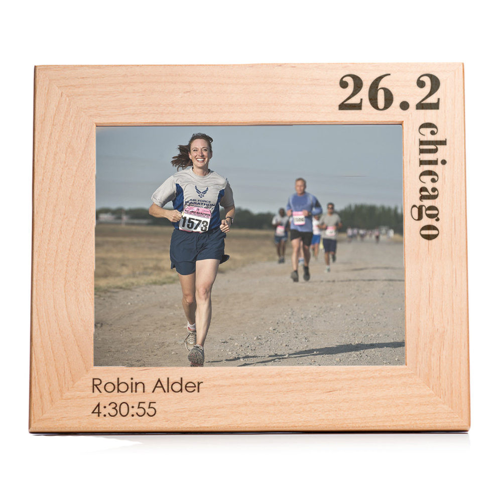 Personalized Running Marathon Picture Frame Landscape