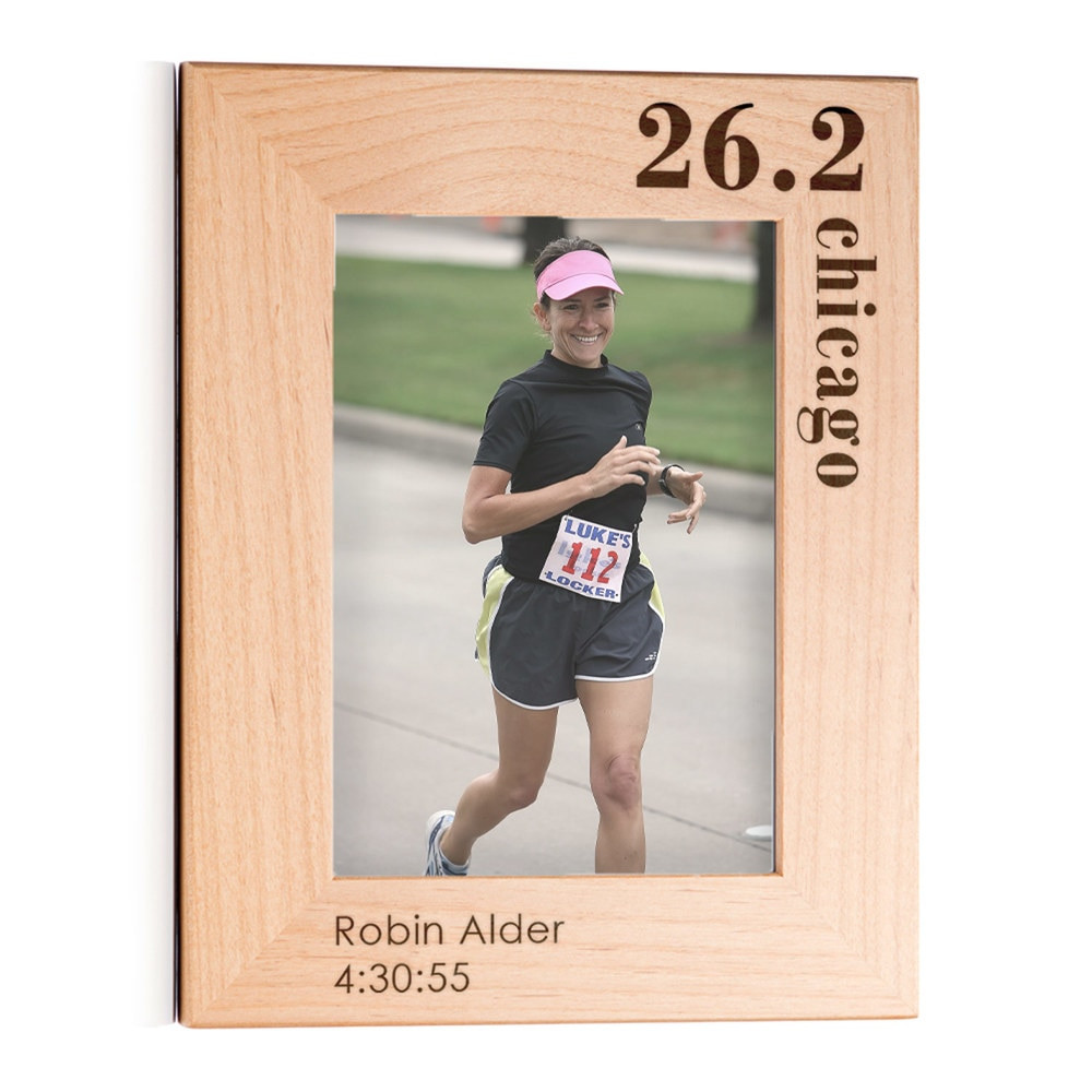 Personalized Running Marathon Picture Frame Portrait