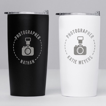 Personalized Photographer Stainless Steel Tumbler