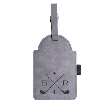 Personalized Monogrammed Custom Golf Tag Gray