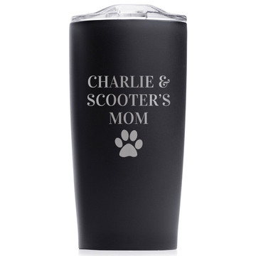 Personalized Dog Tumbler for Pet Lover Black