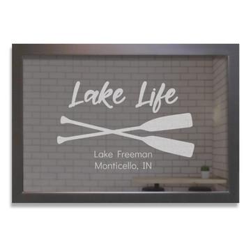 custom bar mirror lake life