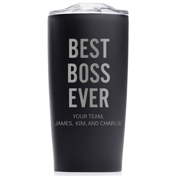 best boss ever tumbler gift personalized with name