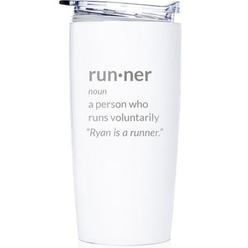 custom runner gift with definition tumbler coffee mug
