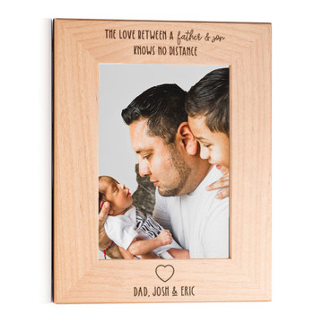 love between father and son knows no distance picture frame personalized