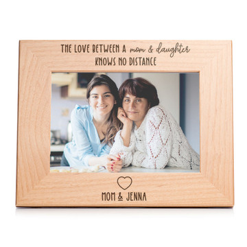 love between mother and daughter knows no distance picture frame personalized
