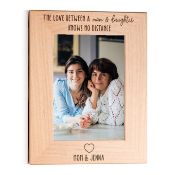 love between mother and daughter knows no distance personalized picture frame