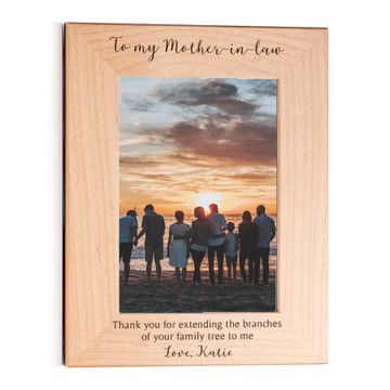 custom picture frame for mother in law