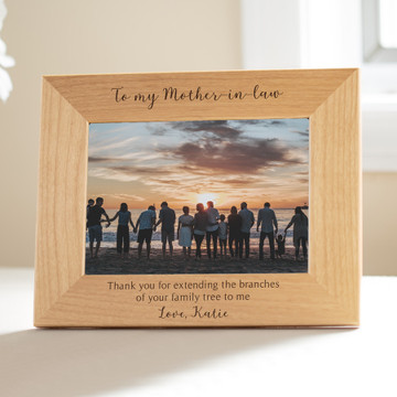 personalized mother-in-law picture frame