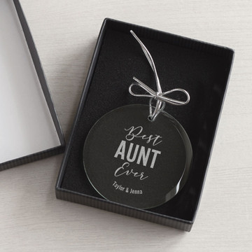 aunt christmas ornament gift box
