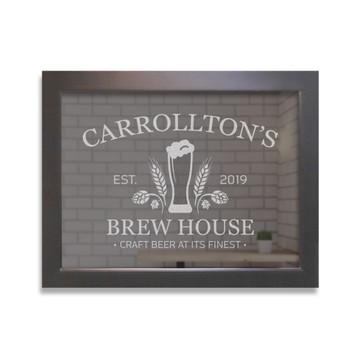 Custom Bar Mirror - Craft Beer Black