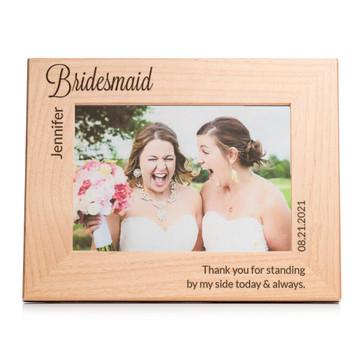 bridesmaid picture frame