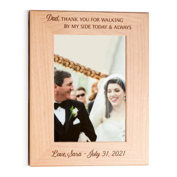 father of the bride picture frame