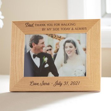 personalized father of the bride picture frame gift