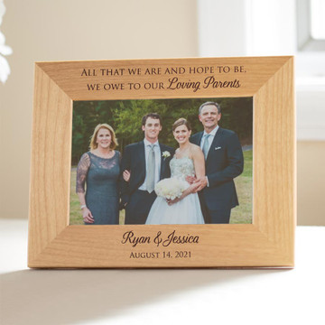 Personalized Wedding Picture Frame for Parents