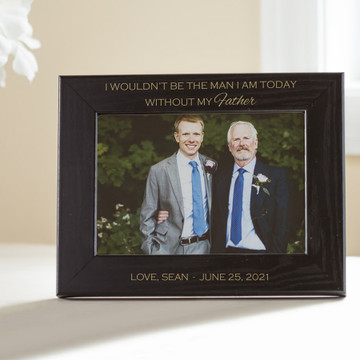 Personalized Father of the Groom Picture Frame (Black)