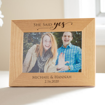 Personalized Engagement Picture Frame