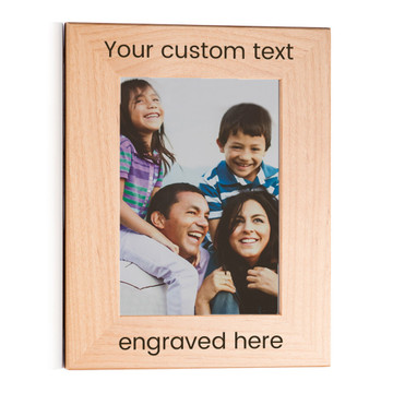 personalized wood picture frame landscape
