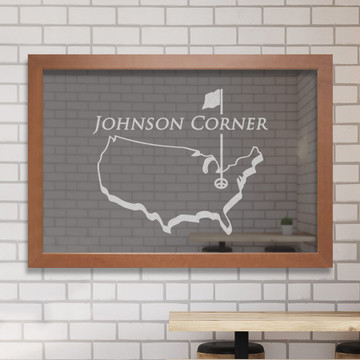 Custom Bar Mirror - Golf