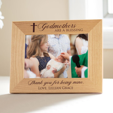 Personalized Godmother Picture Frame Landscape