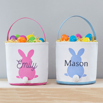 Lifetime Creations Embroidered Soft Personalized Easter Basket